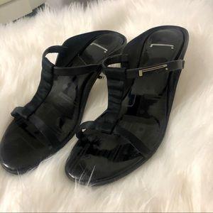 Pirelli Black Patent Sandals - Sz 37